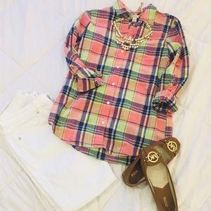 NWOT - J. Crew Preppy Plaid Button-up Shirt - XS